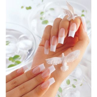 Polygel french manicure